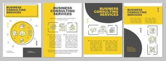 Plantilla de folleto de servicios digitales empresariales
