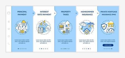 plantilla de vector de incorporación de componentes de préstamo hipotecario