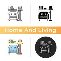 Living room furniture icon vector