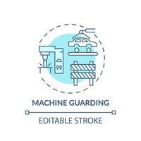 icono de concepto de protección de máquinas