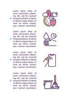 Icono de concepto de prevención de dolor de garganta con texto vector