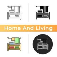 Home textile icon vector