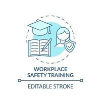 icono de concepto de formación de seguridad en el lugar de trabajo