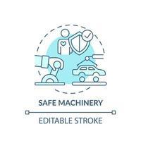 icono de concepto de maquinaria segura