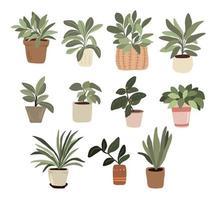interior plantas en maceta elementos de decoración set sticker pulgar verde para bullet journal