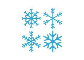 Ilustración aislada de vector de plantilla de diseño de icono de copo de nieve