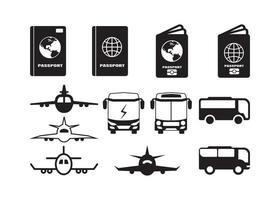 Traveling icon set design set vector