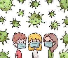 grupo de personas en riesgo de coronavirus covid-19 vector
