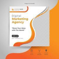 diseño de plantilla de publicación de redes sociales corporativas modernas