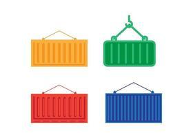 conjunto de diseño de icono de contenedor vector