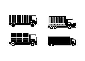 Shipping truck icon design template vector isolated illustration