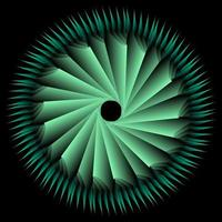 Tosca spirograph circle ornament vector