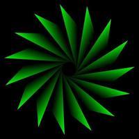 Abstract origami circular transitions vector
