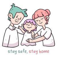 stay home, stay safe covid-19 coronavirus typography