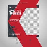 publicación de redes sociales de marketing de negocios digitales vector