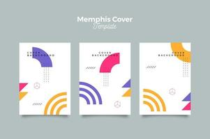 Memphis Futuristic Cover Design Template vector