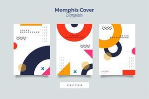 Memphis Cover Set Design vector