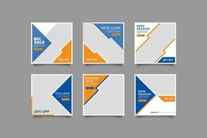 Sale Discount Template For Social Media Post vector