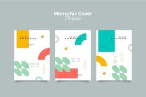 Memphis Cover Poster Template Background vector