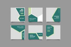 Green Social Media Post Template vector