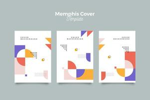 Minimalist Memphis Cover Poster Template vector