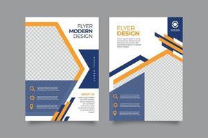 folleto comercial profesional para empresas inc vector