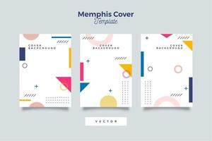Abstract memphis background geometric elements vector