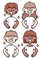 confident, confidence, proud cute cartoon people illustration vector