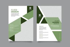 Abstract business flyer with greeny style vector