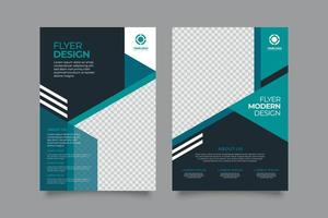 Modern business flyer with abstract design vector