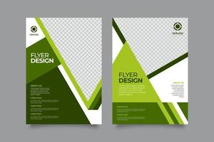 Abstract business flyer with greenish style vector