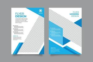 Elegant business flyer template with flat design vector