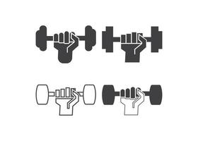 Dumbbell icon design template vector isolated illustration