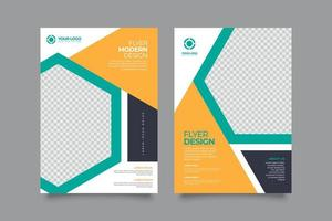 Abstract geometric colorful pamphlet template concept vector