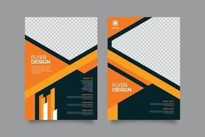 Premium modern business flyer with abstract design vector