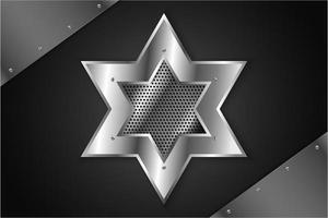 estrella de metal brillante vector