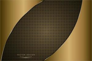 Luxury metallic background of gold vector