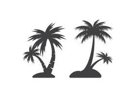 Ilustración aislada del vector de la plantilla del diseño del icono de la palmera