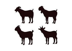 Goat icon design template set vector