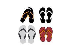 conjunto de diseño de icono de flip flop vector