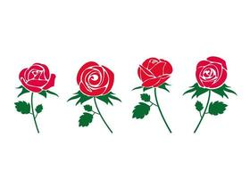 Rose icon design set vector
