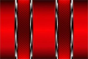 Metallic of red with carbon fiber texture vector