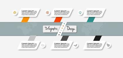 Los diagramas de organización y diseño se utilizan para describir la planificación y describir las funciones. infografía. vector