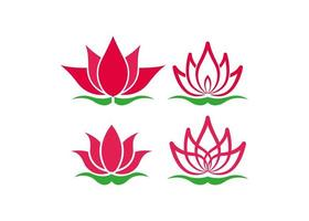 Lotus icon design template vector isolated illustration