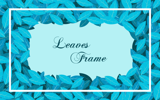 Blue leaves frame