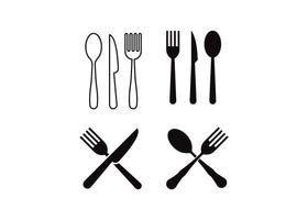 Cutlery icon design template vector isolated illustration