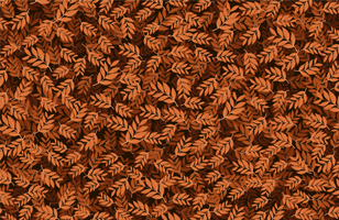 Brown Leaves Fabric Pattern