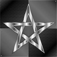 Shiny star metal background vector