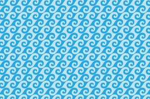 Blue waves pattern vector