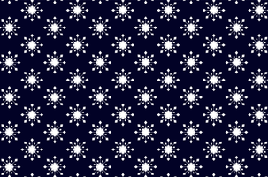 Geometric Snowflakes Background